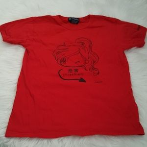 red shirt M cute mischievous girl,new